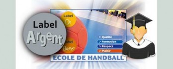 Label école de handball argent