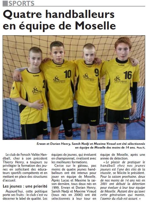-14 ans équipe de Moselle
