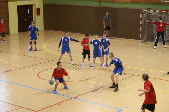 Match de -14 ans élite opposant Bousse au FVH