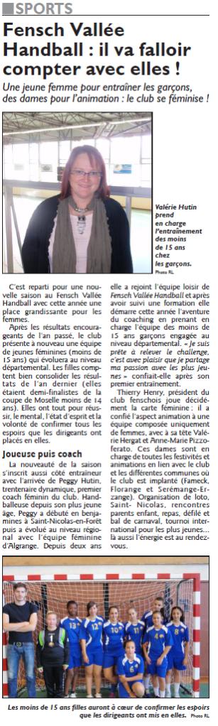 Fensch Vallée Handball, il va falloir compter avec elles!