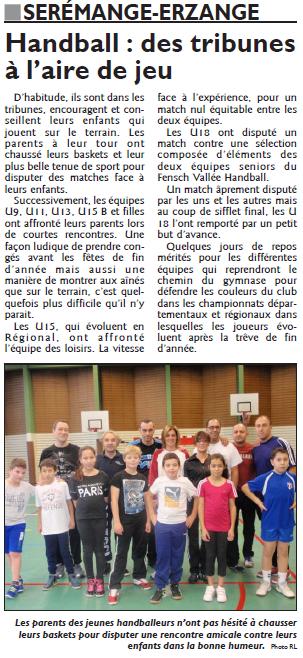 Handball, des tribunes à l'aire de jeu