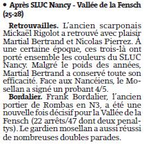 Après SLUC Nancy - Vallée de la Fensch (25-28)