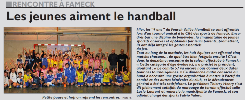 Les jeunes aiment le handball
