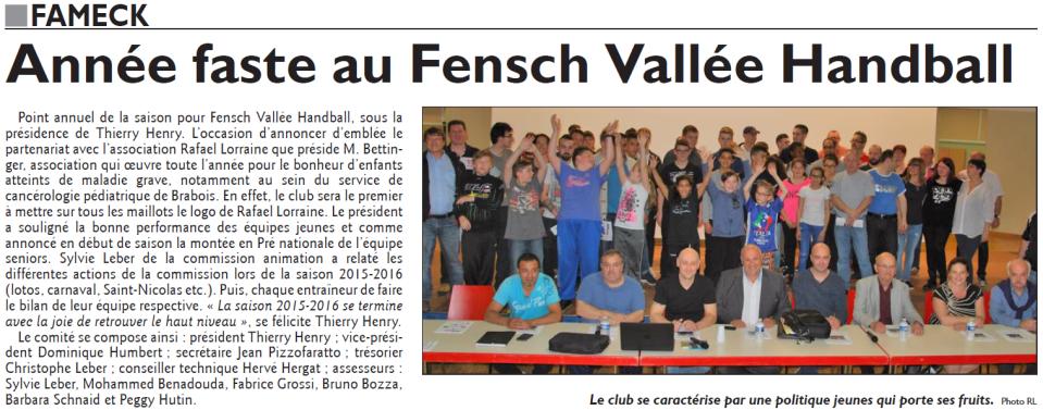 Année faste au Fensch Vallée Handball