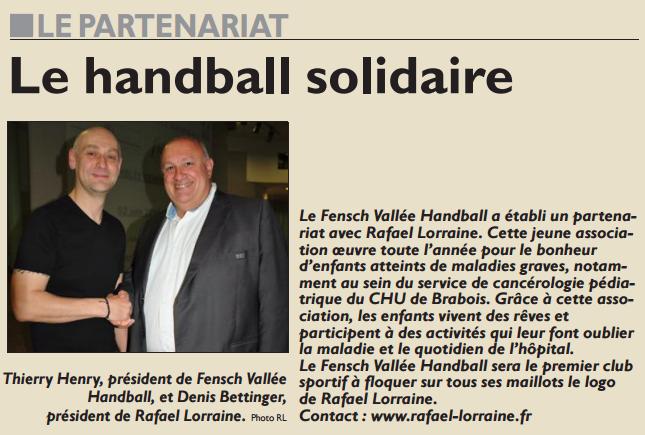 Le handball solidaire
